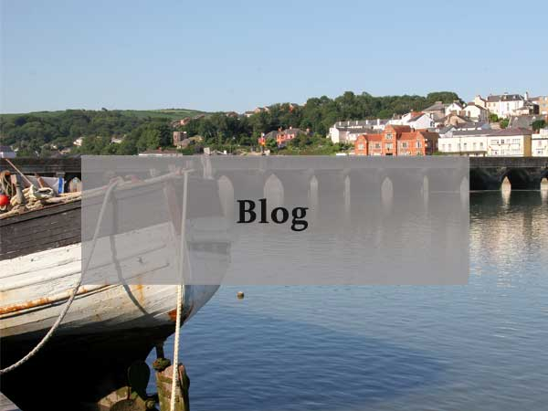 Boats in Bidiford. link to blog on the North Devon Farm site
