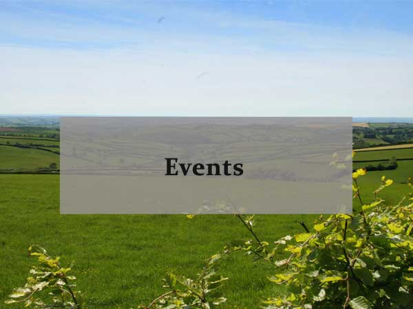 Countryside in North Devon, link to the events shown by the North Devon Farms group