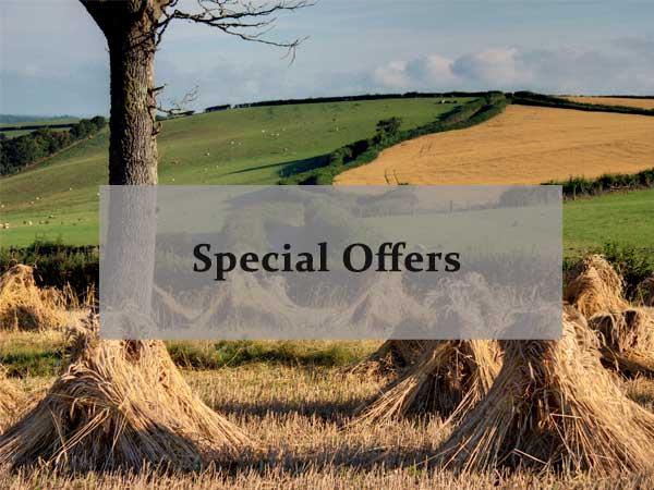 Corn stacks in North Devon, link to Special offers on North Devon Farm accommodation