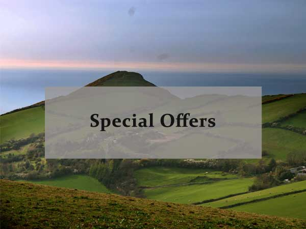 North Devon countryside, link to special offers on North Devon Farm stays