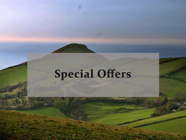 North Devon countryside, link to special offers on North Devon Farm stays