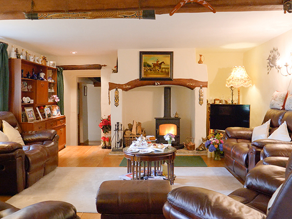 Stunning sitting room that guests can sit back and relax in after a fun day in North Devon.
