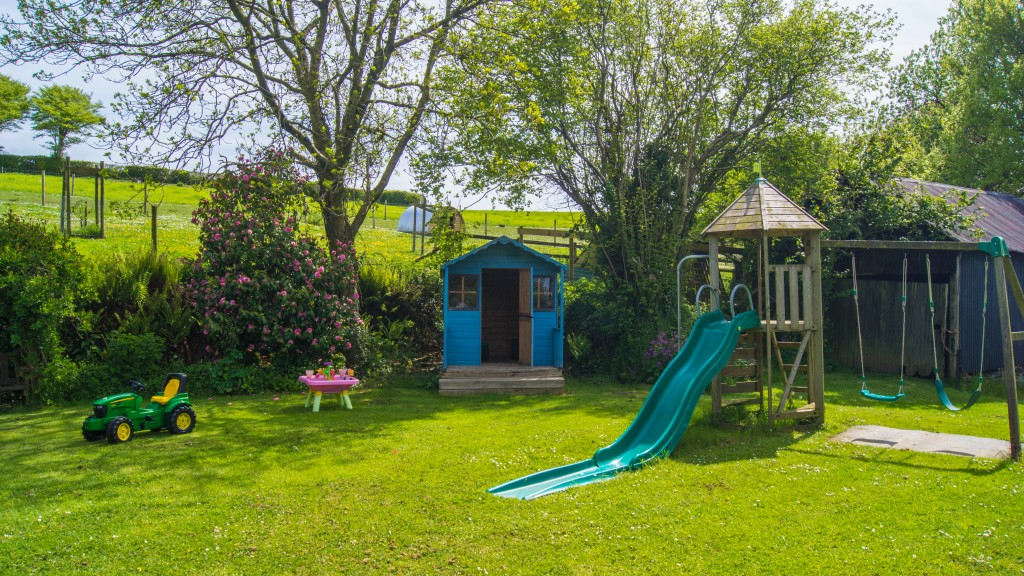 Let the children enjoy the play areas at Bampfield Farm Holiday Cottages.