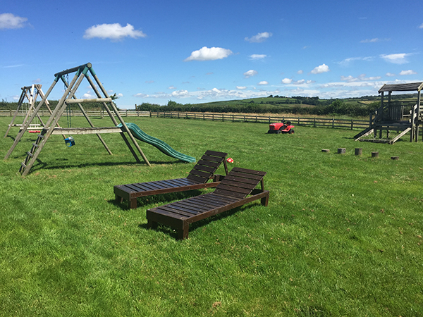 Enjoy the family friendly play areas while on holiday at Hill Farm Cottages.