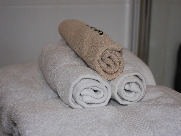 Enjoy fluffy towels when you stay at West Down Guest House.