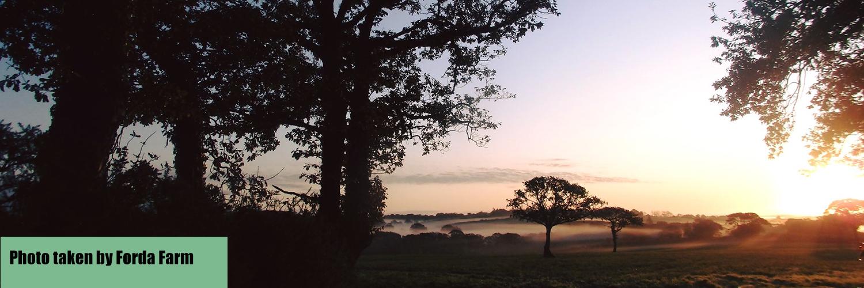 Enjoy early morning sunrises at Forda Farm Bed and Breakfast, North Devon.