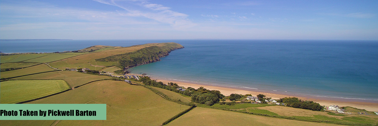 Stunning seaside shot of the North Devon Coastline taken by Pickwell Barton Holiday Cottages.
