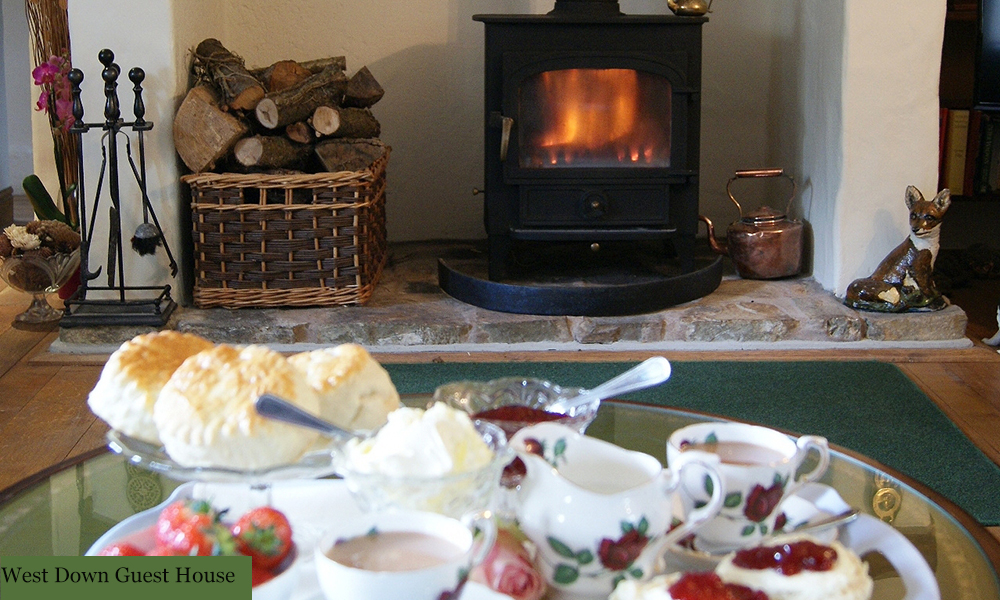 Enjoy a cream tea in front of the fire while on holiday this autumn in North Devon.