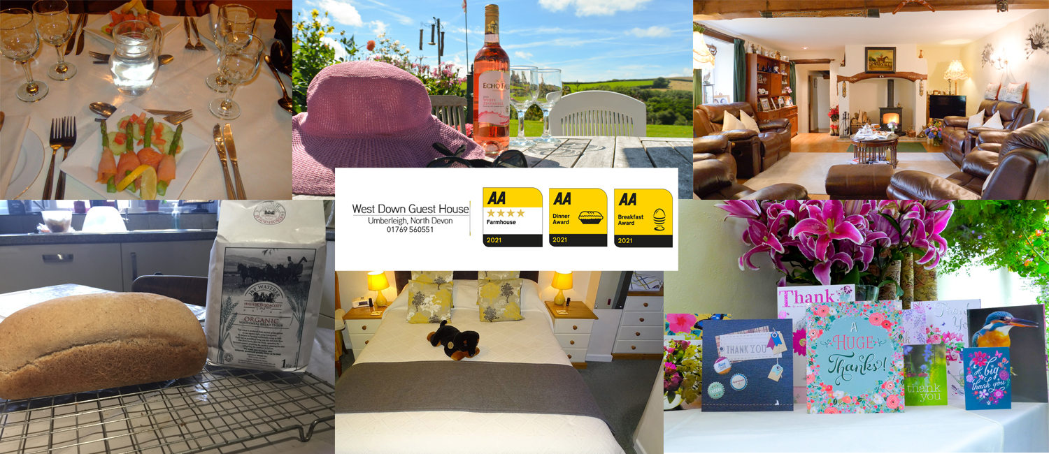 Enjoy a luxurious stay at West Down Guest House in North Devon.