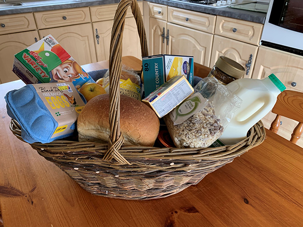 Enjoy a welcome hamper when you stay at Hollacombe Farm.